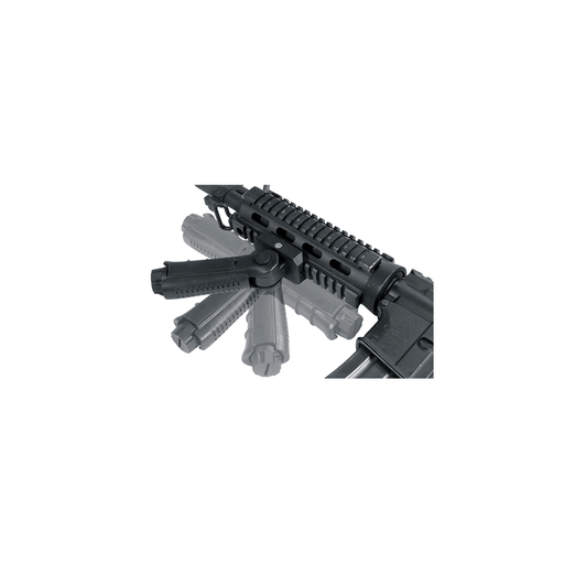 UTG RB-FGRP170B Ambidextrous 5-position Foldable Foregrip, Black