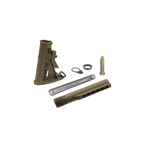 UTG RBU6DM PRO USA 6-Pos Mil-spec Stock Assembly - Flat Dark Earth