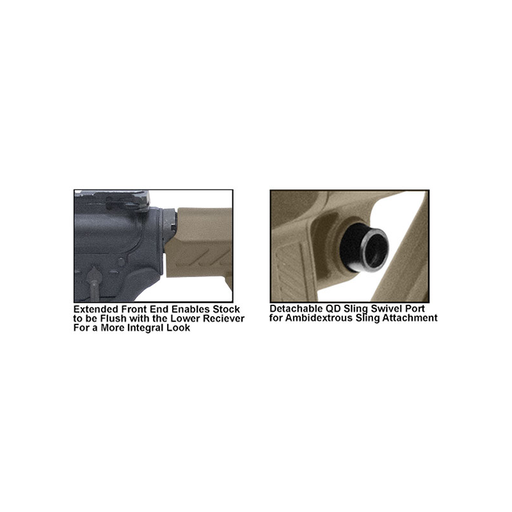 UTG RBUS2DM PRO AR15 Ops Ready S2 Mil-spec Stock Kit, FDE