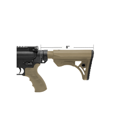 UTG RBUS3DM PRO AR15 Ops Ready S3 Mil-spec Stock Kit, FDE