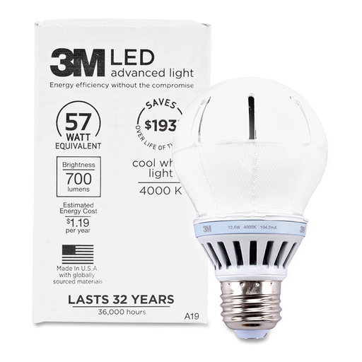 3M RCA19B4 Cool White Commercial LED , 800 Lumens dimmable