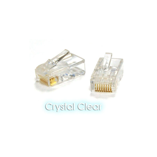 Bytecc RJ-45PLUG  CAT6 Crystal Clear RJ-45 Shielded Tip/Connector (100pcs Bag)