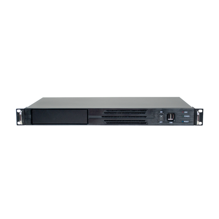 Athena Power RM-1U100D Black 1U Rackmount Server Case - Server Chassis