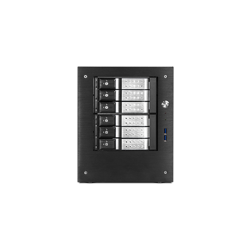 "iStarUSA S-46-DE6SL Compact Stylish 6x 3.5"" Hotswap Trayless mini-ITX Tower"
