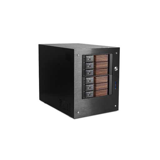 "iStarUSA S-46-DE6WB Compact Stylish 6x 3.5"" Hotswap Trayless mini-ITX Tower"