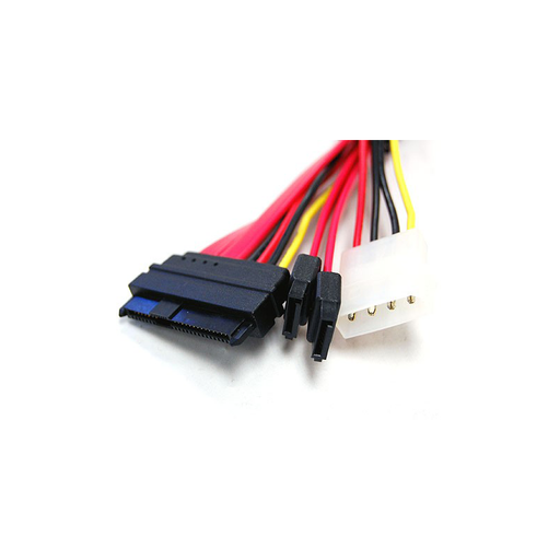 Bytecc SAS2927 Serial Attached SCSI (SAS) 29pin to 2x7pin Sata and Power Cord Cable