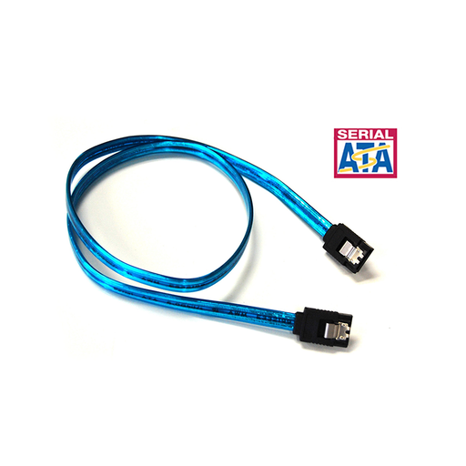 Bytec SATA-336UVB UV Blue Serial ATA III 6Gbps Cable w/Locking Latch
