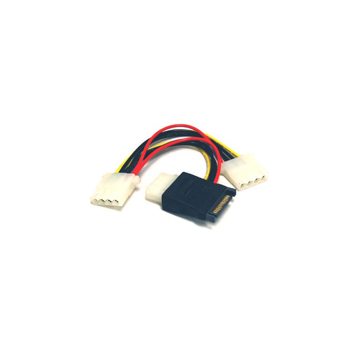Bytecc SATA-3LP4 SATA Power Input 15pin to MOLEX 4pin Power Adapter Cable