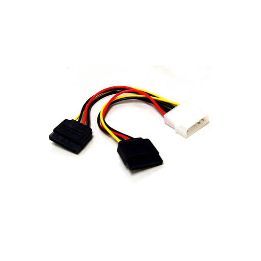 Bytecc SATA2-POWER 4 Pins Molex Connector to 2 Serial ATA Power Cable