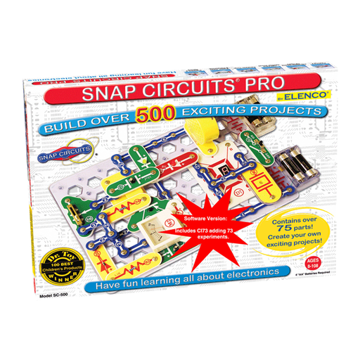 Snap Circuits PRO SC-500S Electronics Discovery Kit with Computer Interface
