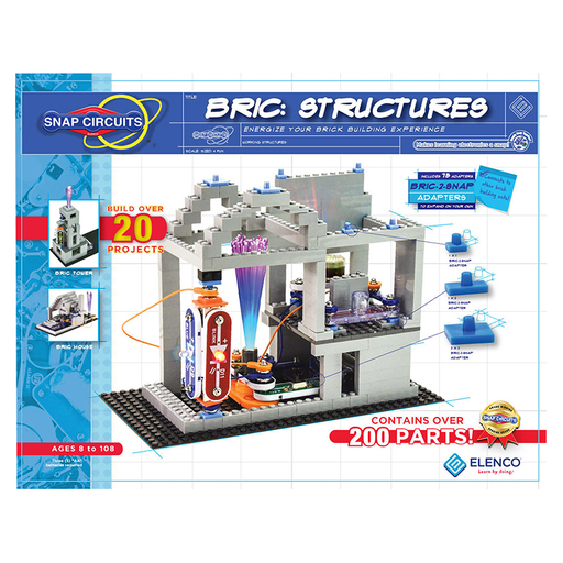 Elenco SC-BRIC1 Snap Circuits Bric: Structures Electronics Kit