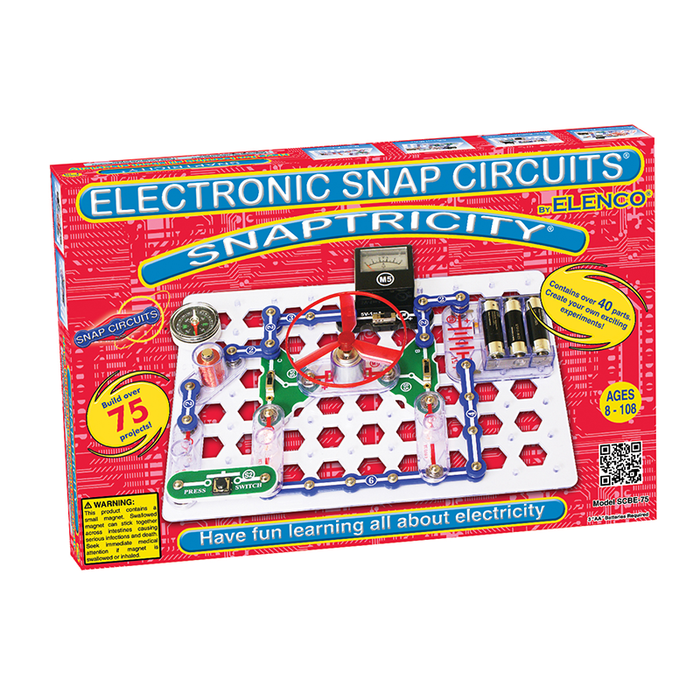 Snap Circuits SCBE-75 Snaptricity Electronics Discovery Kit