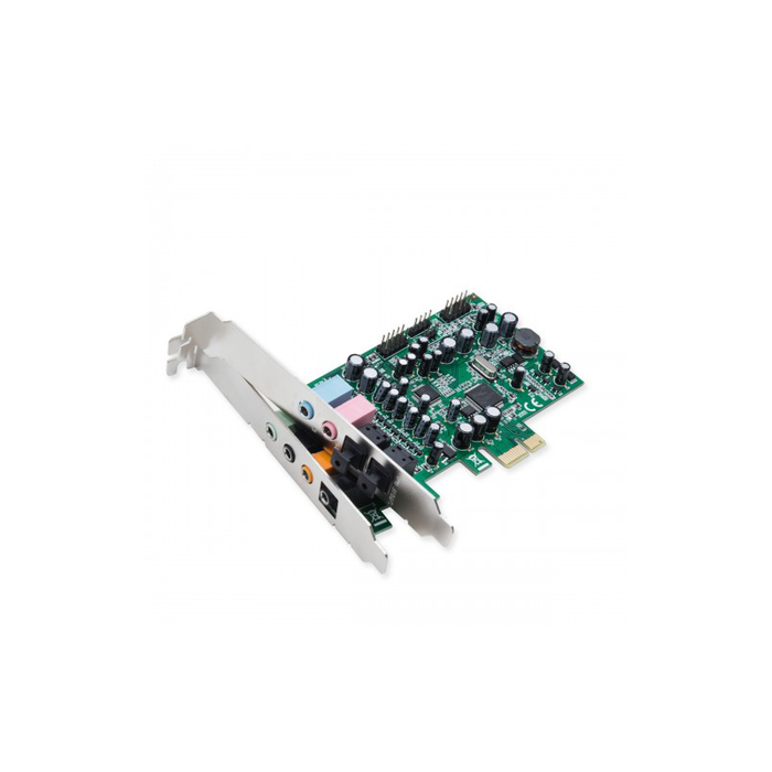 Syba SD-PEX63081 7.1 Surround Sound PCI-e Sound Card, S/PDIF In and Out