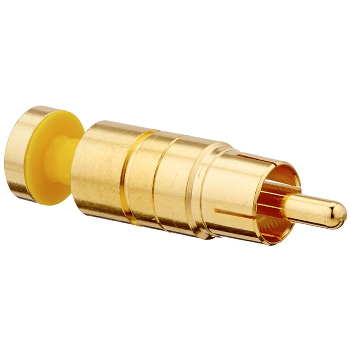 Platinum Tools 18285 RCA RGB Compression 25AWG, Gold Plated, 25-Pack