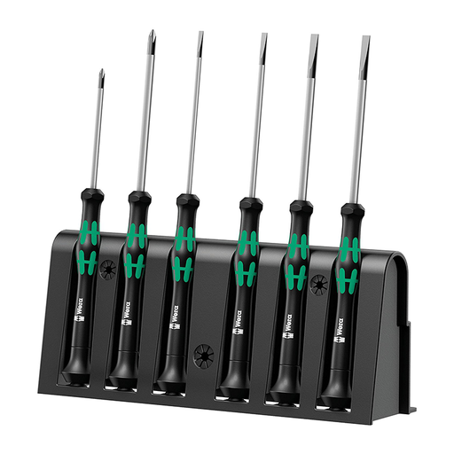 Wera 05118152001 Micro Slotted/Phillips Precision Screwdriver Set, 6 Piece