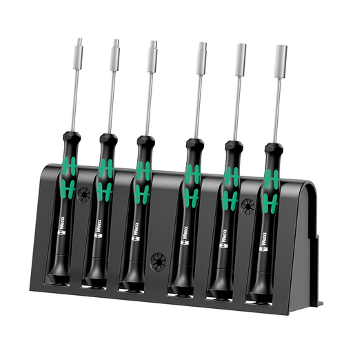 Wera 05118158001 Micro Metric Precision Nut Driver Set, 6 Piece