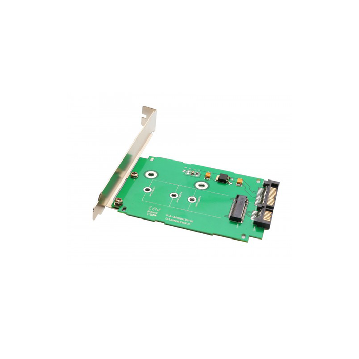 "Syba SI-ADA40083 M.2 NGFF to 2.5"" SATA III Card with Full and Low Profile Brackets (B or B+ M key)"