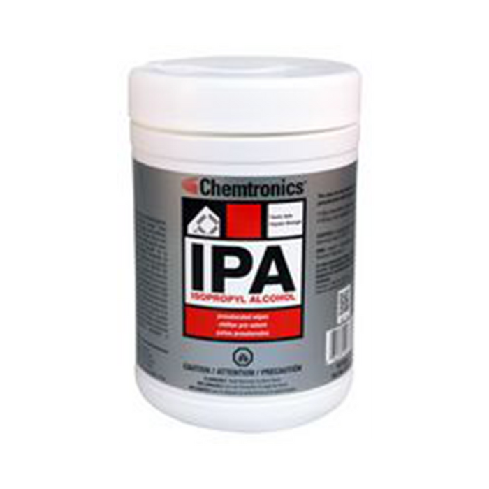 Chemtronics SIP100P IPA Presaturated Wipes, 100 Wipes