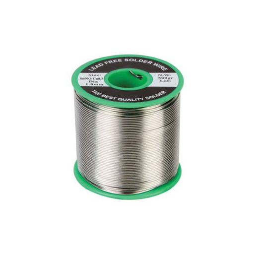 "Velleman SOLD500GLF Lead Free Solder with Resin Core Sn 99.3%, Cu 0.7%, 0.04"" Diameter 1.10 lbs Spool"