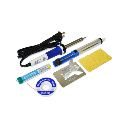 Elenco ST-12ETL Soldering Starter Kit with Desoldering Wick and Pump