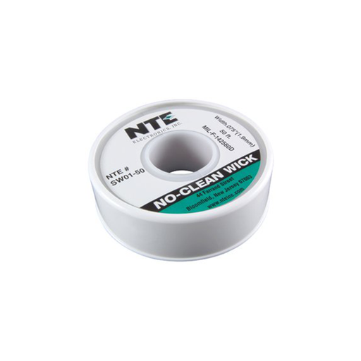 "NTE SW01-50 No-Clean Wick #3 Green 0.075"" x 50 ft."