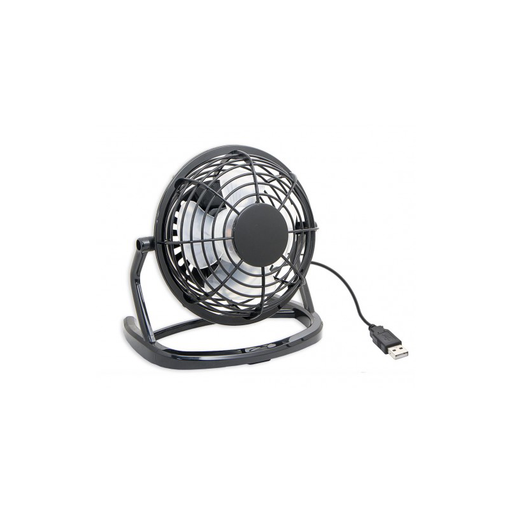 Syba SY-ACC65055 Compact USB Desk Fan, USB Powered with On/Off Switch, Black Color