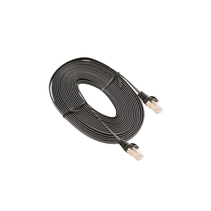 Syba SY-CAB24050 Black 5 Meter CAT7 STP Network Flat Cable