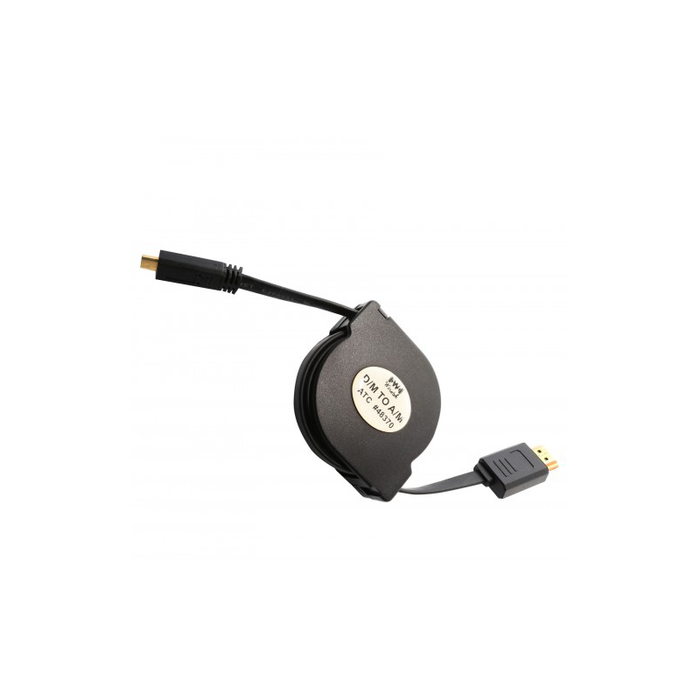 Syba SY-CAB31030 4 ft Retractable HDMI Type A Male to Micro HDMI Type D Male Cable