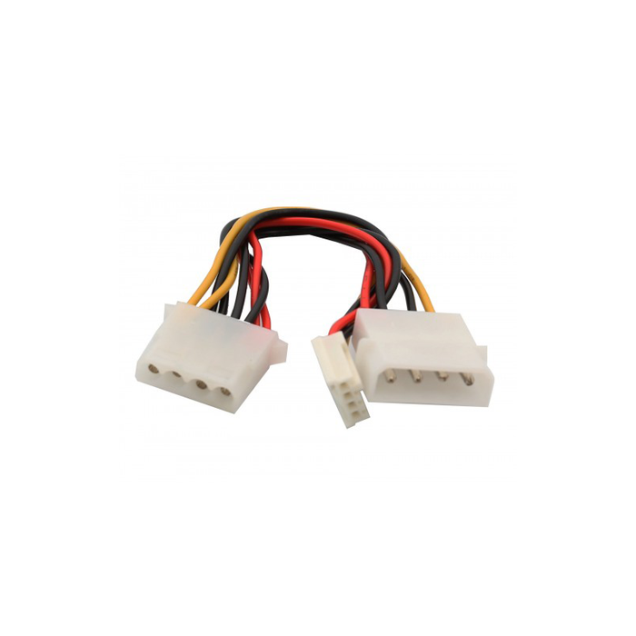 Syba SY-CAB65011 Molex 4-Pin to Molex 4-Pin and Floppy Disk Drive Power Cable