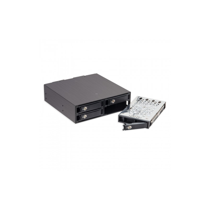 "Syba SY-MRA25038 4 Bay 2.5"" SATA Drive Mobile Rack for 5.25"" Drive Bay"
