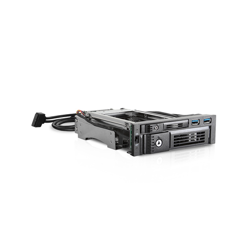"iStarUSA T-5K3525U-SA Trayless 5.25"" to 3.5"" & 2.5"" SATA 6 Gbps HDD SSD Hot-swap Rack with USB 3.0"