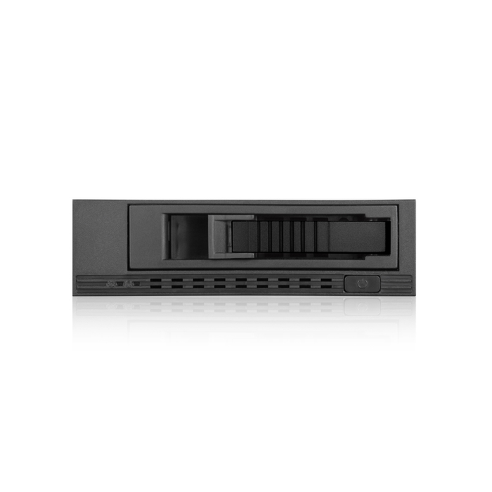 "iStarUSA T-7M1-SATA-BLACK 5.25"" to 3.5"" 2.5"" SATA SAS 6 Gbps HDD SSD Hot-swap Rack"