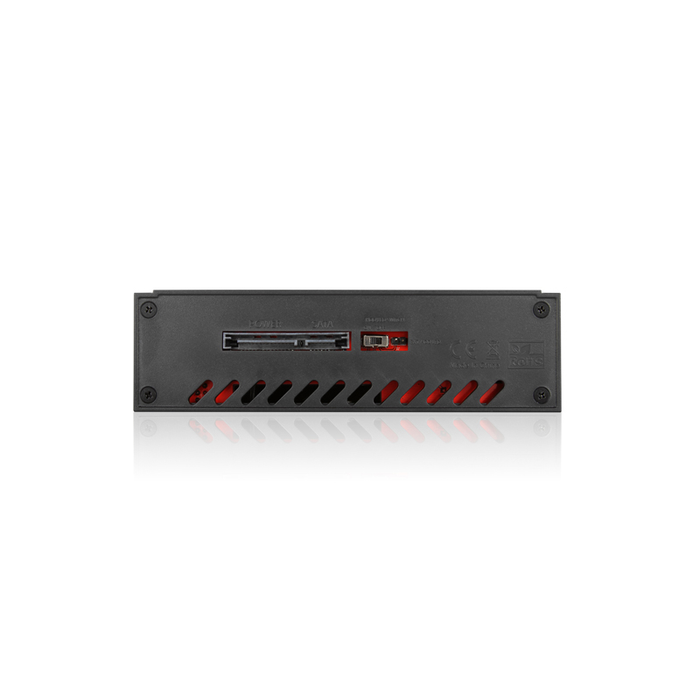 "iStarUSA T-7M1-SATA-RED 5.25"" to 3.5"" 2.5"" SATA SAS 6 Gbps HDD SSD Hot-swap Rack"