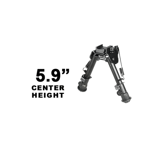 "UTG TL-BP78Q Tactical OP Bipod, QD Lever Mount, Height 5.9""-7.3"""