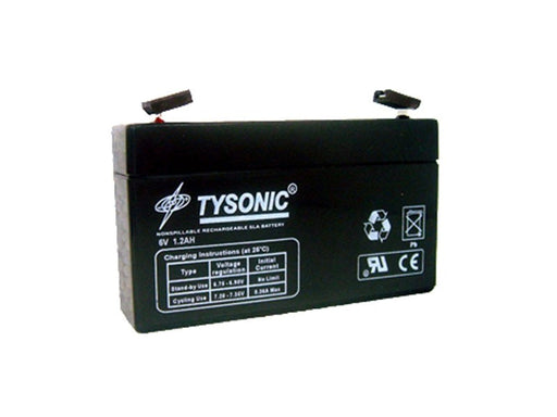 Tysonic TY-6-1.2 6V 1.2AH Sealed Lead Acid Battery