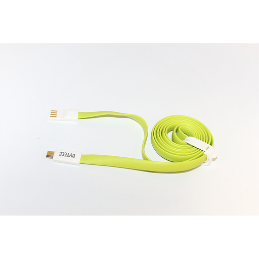 Bytecc U2MA-GN Colored USB Flat Cable - USB 2.0 A Male to Micro B