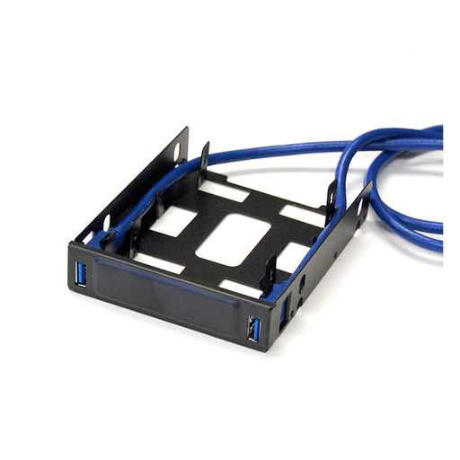 "Bytecc U3-225 USB 3.0 Front Hub Bracket for Dual 2.5"" HDD/SSD to 3.5"" tray"