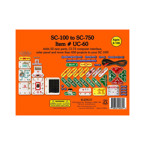 Elenco Snap Circuits UC-60 Upgrade Kit SC-100 to SC-750