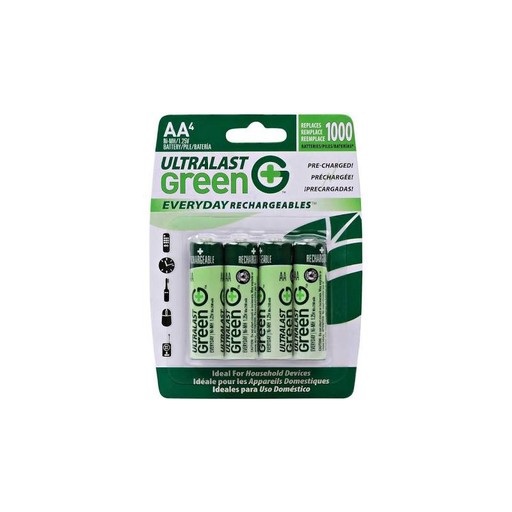 Dantona Ultralast ULGED4AA AA Green Rechargeable Batteries