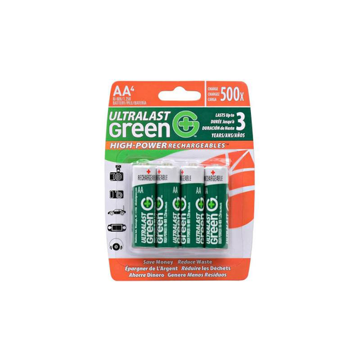 Dantona UltraLast ULGHP4AA Green High Power/Capacity NiMH 4-Pack AA