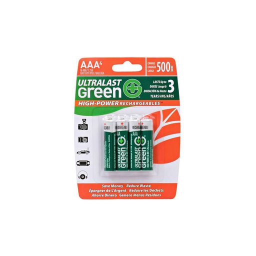 Dantona UltraLast ULGHP4AAA  Green High Power/Capacity NiMH 4-Pack AA