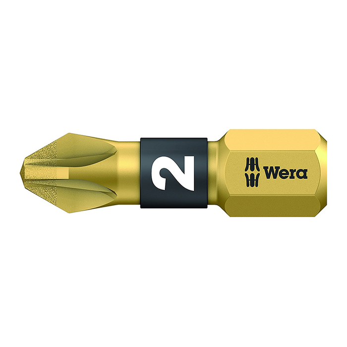 Wera 05056702001 #2 x 25mm Pozidriv BiTorsion Diamond Coated Bit