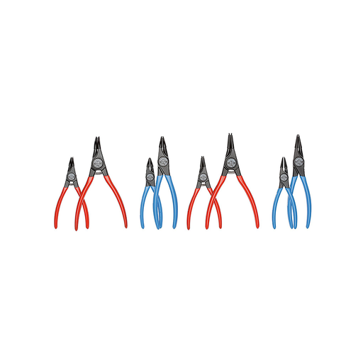 GEDORE 2148692 Set of Circlip Pliers, 8 Piece