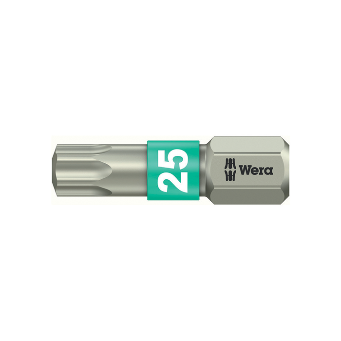 Wera 05071037001 T30 x 25mm Stainless Steel Torx Torsion Bit