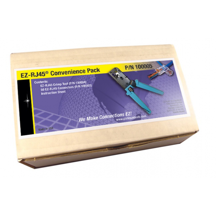 Platinum Tools 100005 EZ-RJ45 Convenience Pack - 50. Kit Box.