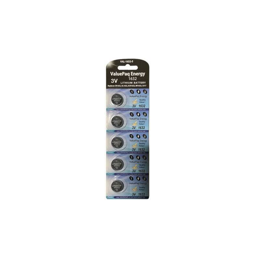 Dantona VAL-1632-5 ValuePaq Energy CR1632 3V Lithium Batteries 5PK