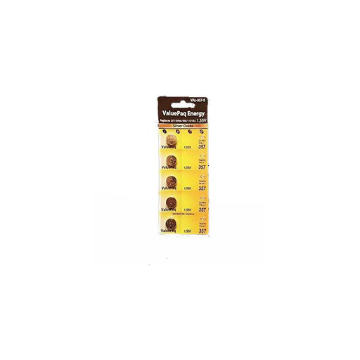 Dantna 5 Pack Battery replacement VAL-357-5 for SR44, D357DP, 357DP, 303, 1131SO