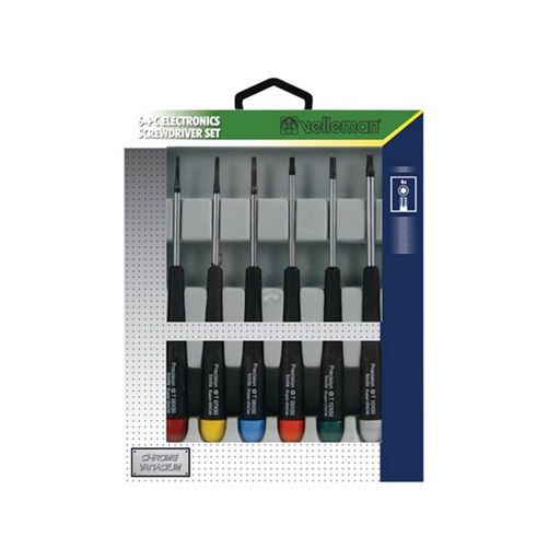 Velleman VTSET30 Precision Electronic Star Tip Screwdriver Set, 6 Piece