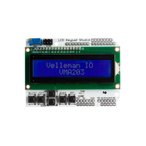 Velleman VMA203: LCD & Keypad Shield for Arduino