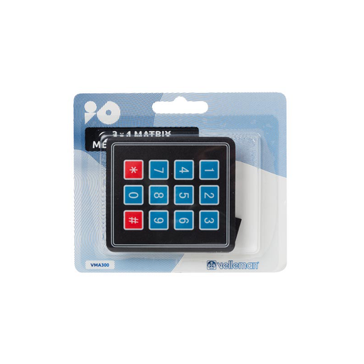 Velleman VMA300: 3 x 4 Matrix Keypad for Arduino